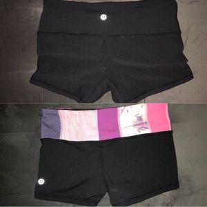 lululemon reversible athletic shorts